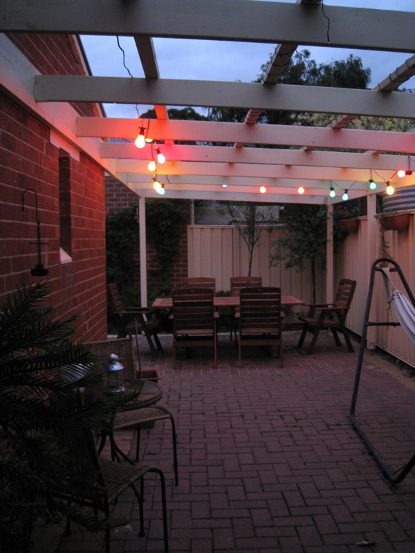 Pergola 02 - Party lights are on!