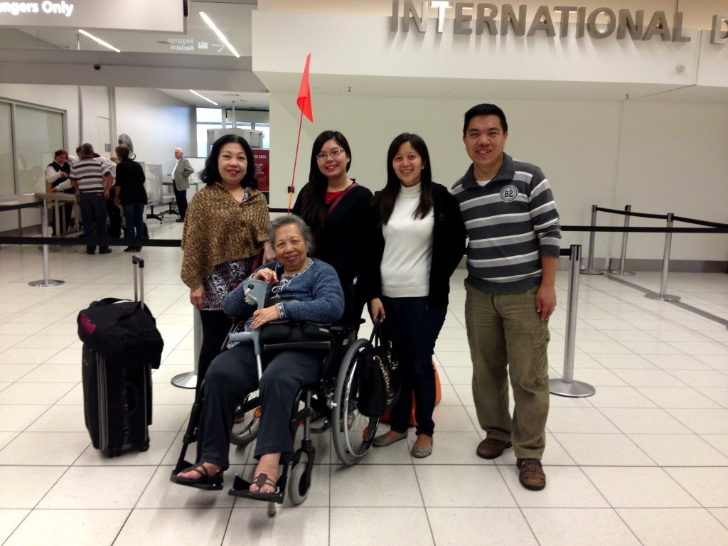 Saying goodbye at the Adelaide Airport