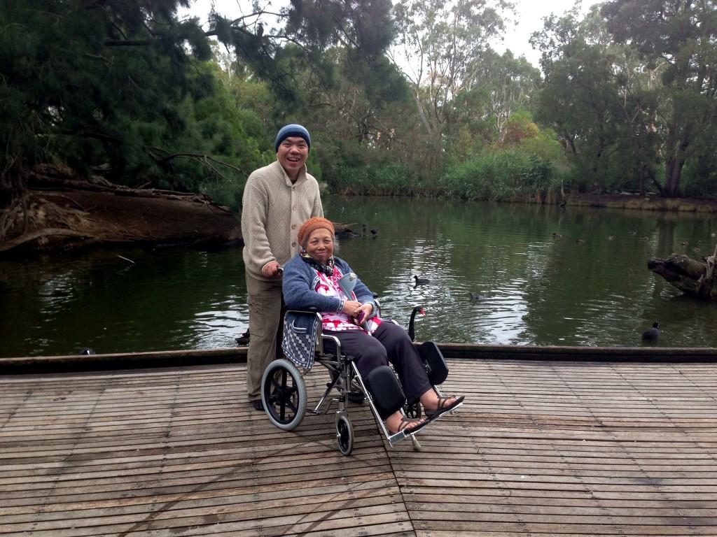 Mum and I - Cleland Wildlife Park, 1 April 2013