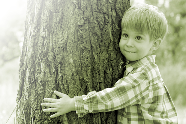 Boy and tree